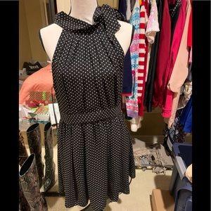 Express polka dot bow dress